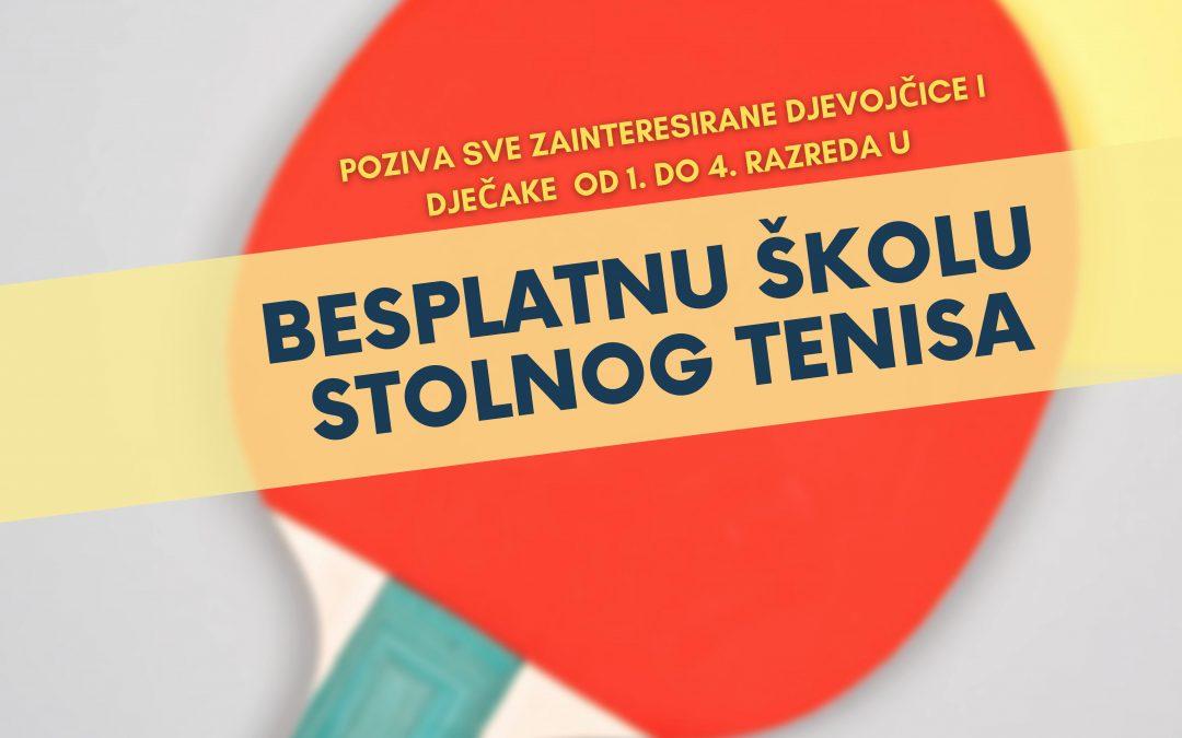 UPIS NOVIH ČLANOVA U ŠKOLU STOLNOG TENISA